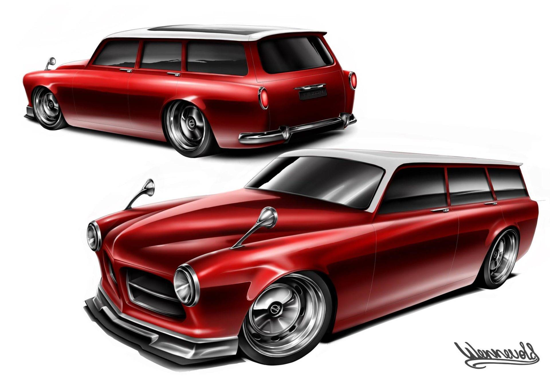 Rendering of The TeZon from Vintage Volts by TZ!